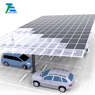 sistema de montagem solar para garagem