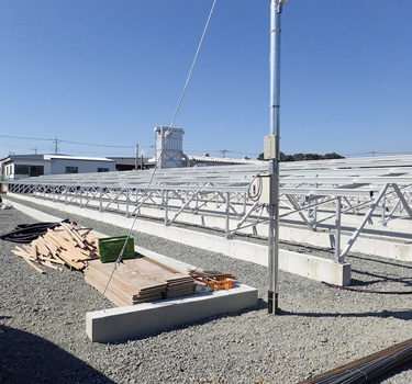 30MW ground solar mounting system project in Fukui Japan