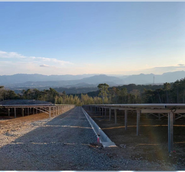 32MW slope ground solar mounting system for Oita 2019.07