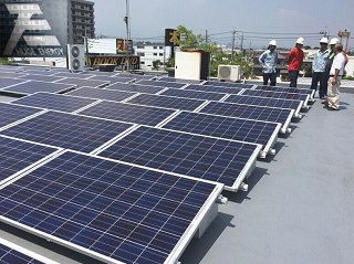 Ballast roof solar mounting system