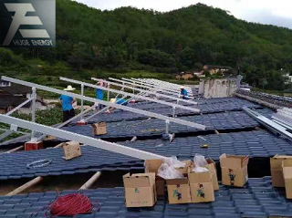 Pitched roof solar mounting system
