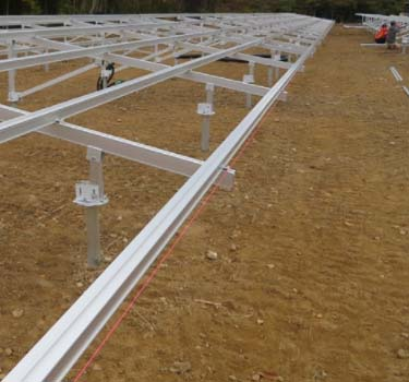 All aluminum alloy solar mounting structure Japan Tochigi Prefecture
